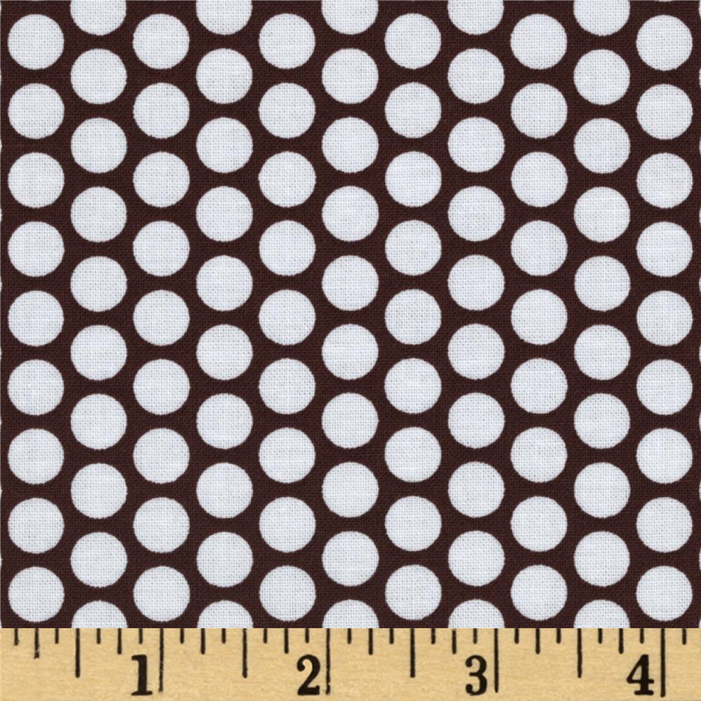 Riley Blake Honeycomb Dot Brown/White