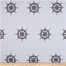 RCA Blackout Drapery Fabric Captain's Wheel Grey