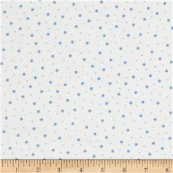 Kimberbell Little One Flannel Too! Flannel Random Dots White Blue