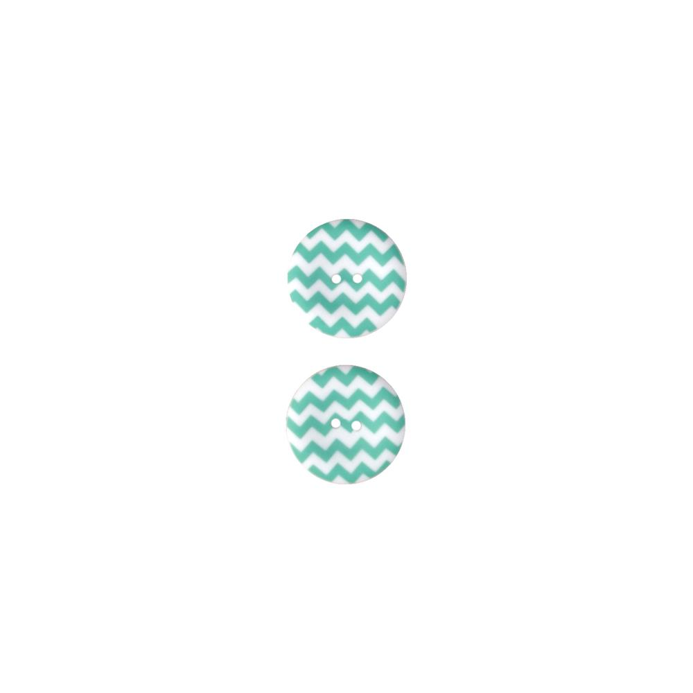 Riley Blake Sew Together 1 1/2 Matte Button Chevron Aqua