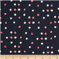 Cotton + Steel Paper Bandana Paint Dot Indigo