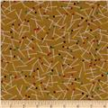 Michael Miller Love to Sew Pin Scatter Toffee