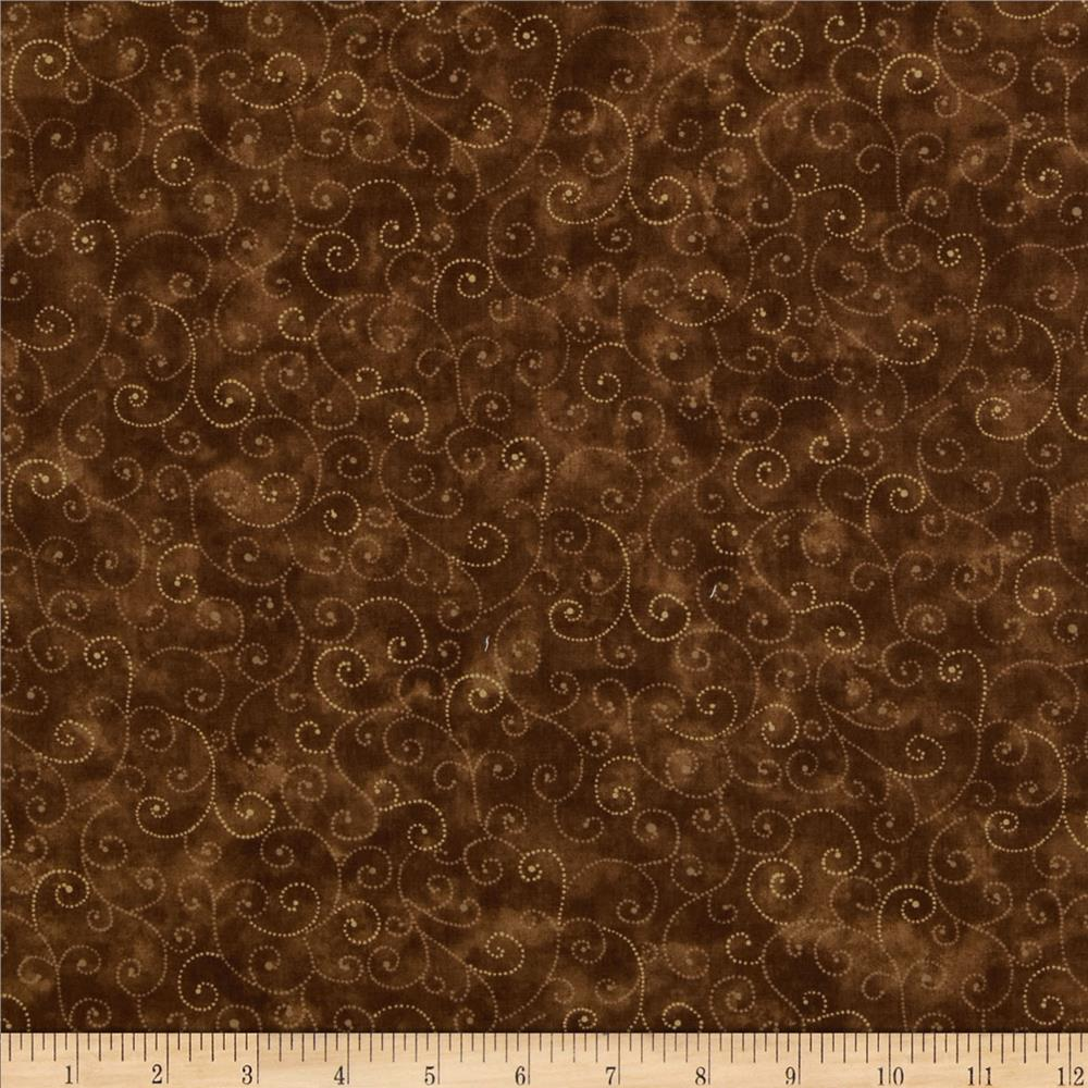 Moda Marble Swirls Chocolate