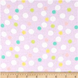 Baby Dots Flannel Lilac