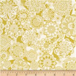 Global Bazaar Geo Floral Crochet Citron