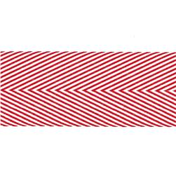"May Arts 1 1/2"" Chevron Twill Ribbon Spool Red"