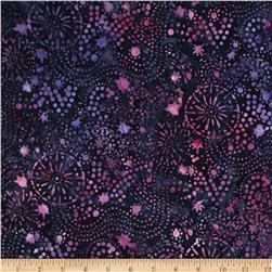 Batavian Batiks Starry Night Midnight Orchid