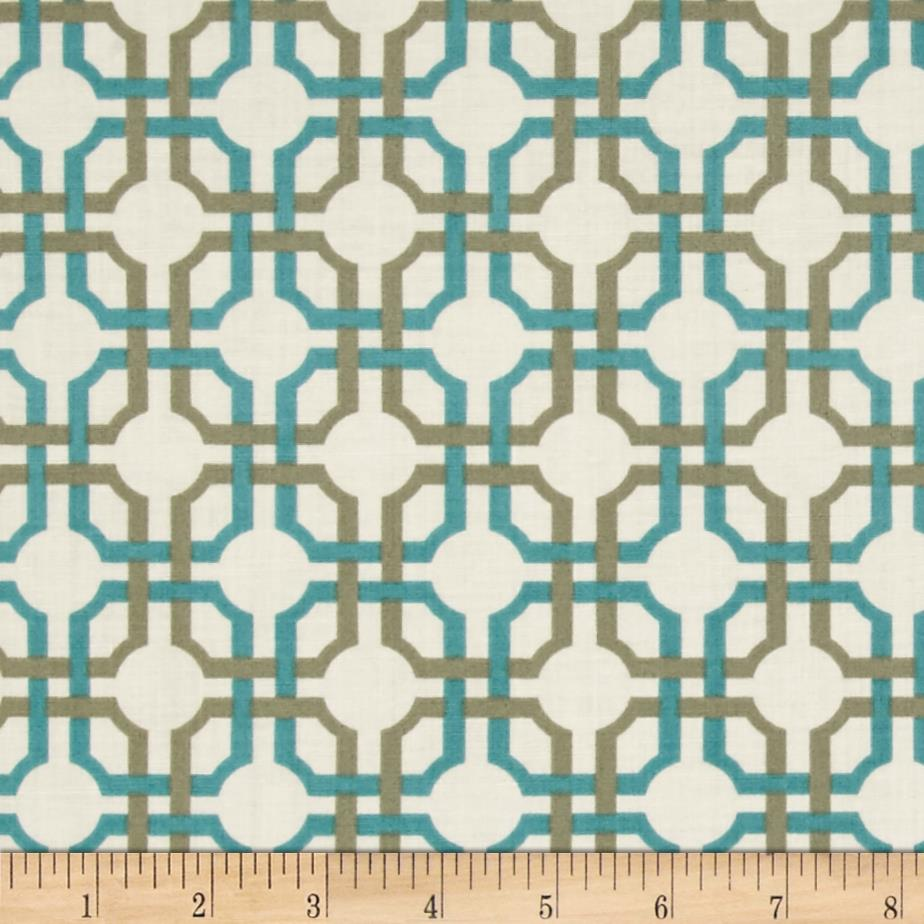 So Chic Interlocking Grid Cream/Aqua