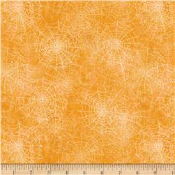 Come Sit A Spell Spiderweb Texture Orange