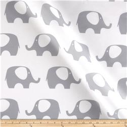 RCA Elephant Sheers Grey Fabric