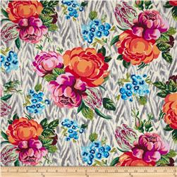 Amy Butler Hapi Tapestry Rose Linen Fabric