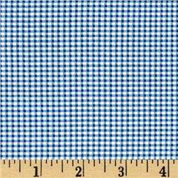 Riley Blake Lucky Star Gingham Blue