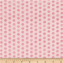 Kaufman Fawns & Friends Dots Pink