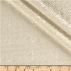 Kaufman Rebecca Embroidered Poplin Diamond Plaid Natural Fabric