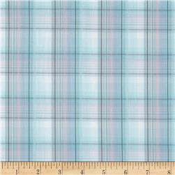 Designer Plaid Shirting Blue/White/Pink