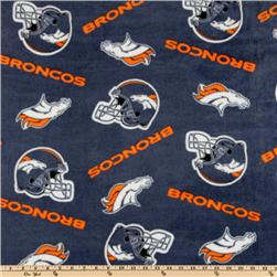 NFL Fleece Denver Broncos Blue/Orange Fabric