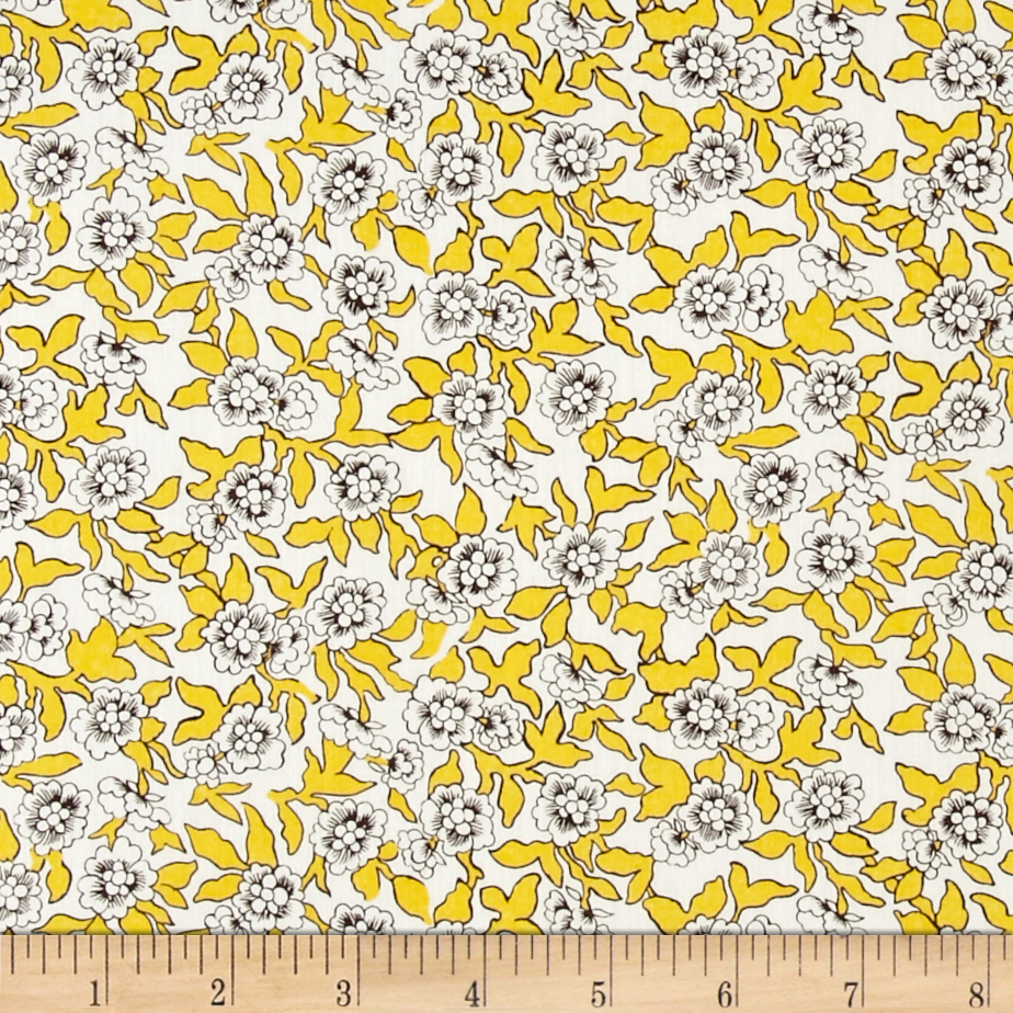 Liberty of London Tana Lawn Dynasty Yellow Fabric by Liberty Of London in USA