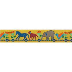 "7/8"" Sue Spargo Ribbon Multi Animal Train Gold"
