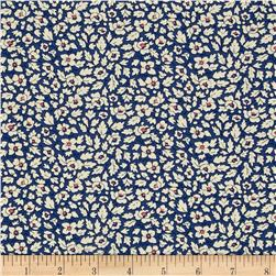 Liberty of London Tana Lawn Feather Fields Blue/White/Pink