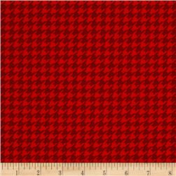 Snow Much Fun Holiday Houndstooth Berry Red