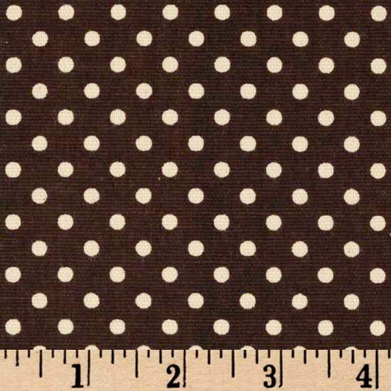 premier prints dottie chocolate  natural - discount designer fabric
