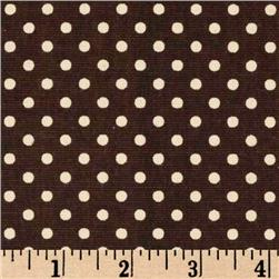 Premier Prints Dottie Chocolate/Natural Fabric