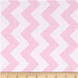 Riley Blake Medium Chevron Pink Fabric