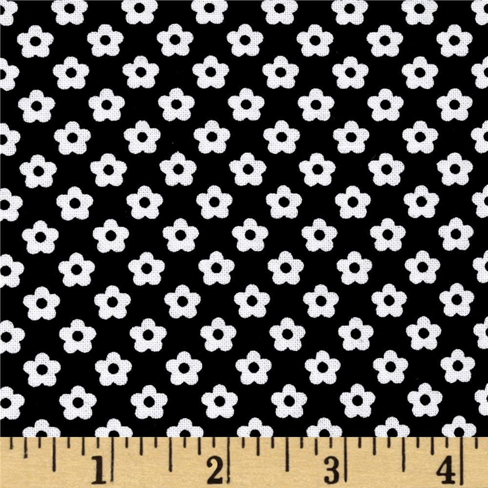Riley Blake Dot & Dash Petals Black