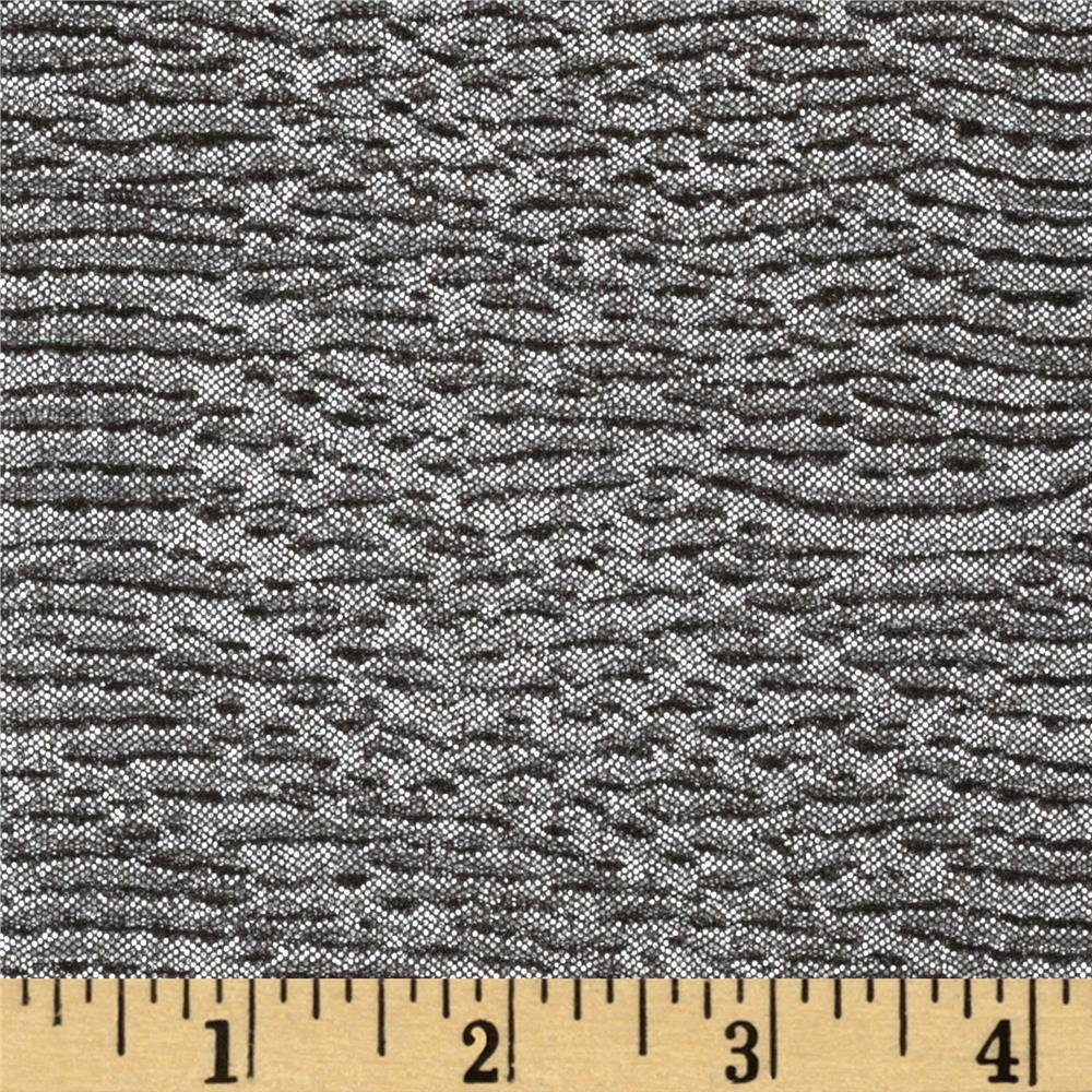 Metallic Pucker Single Knit Silver