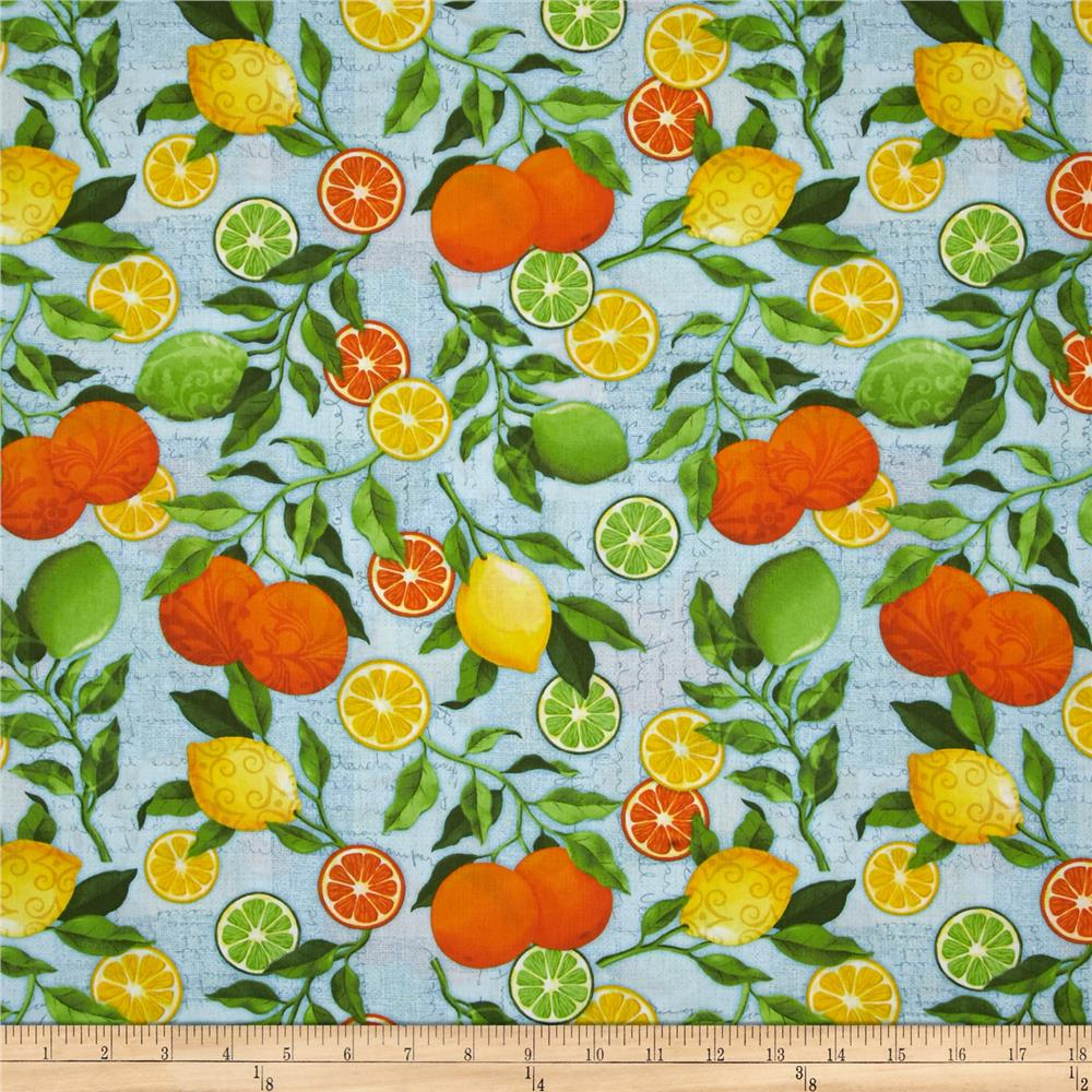 Citrus Grove Citrus All-Over Blue