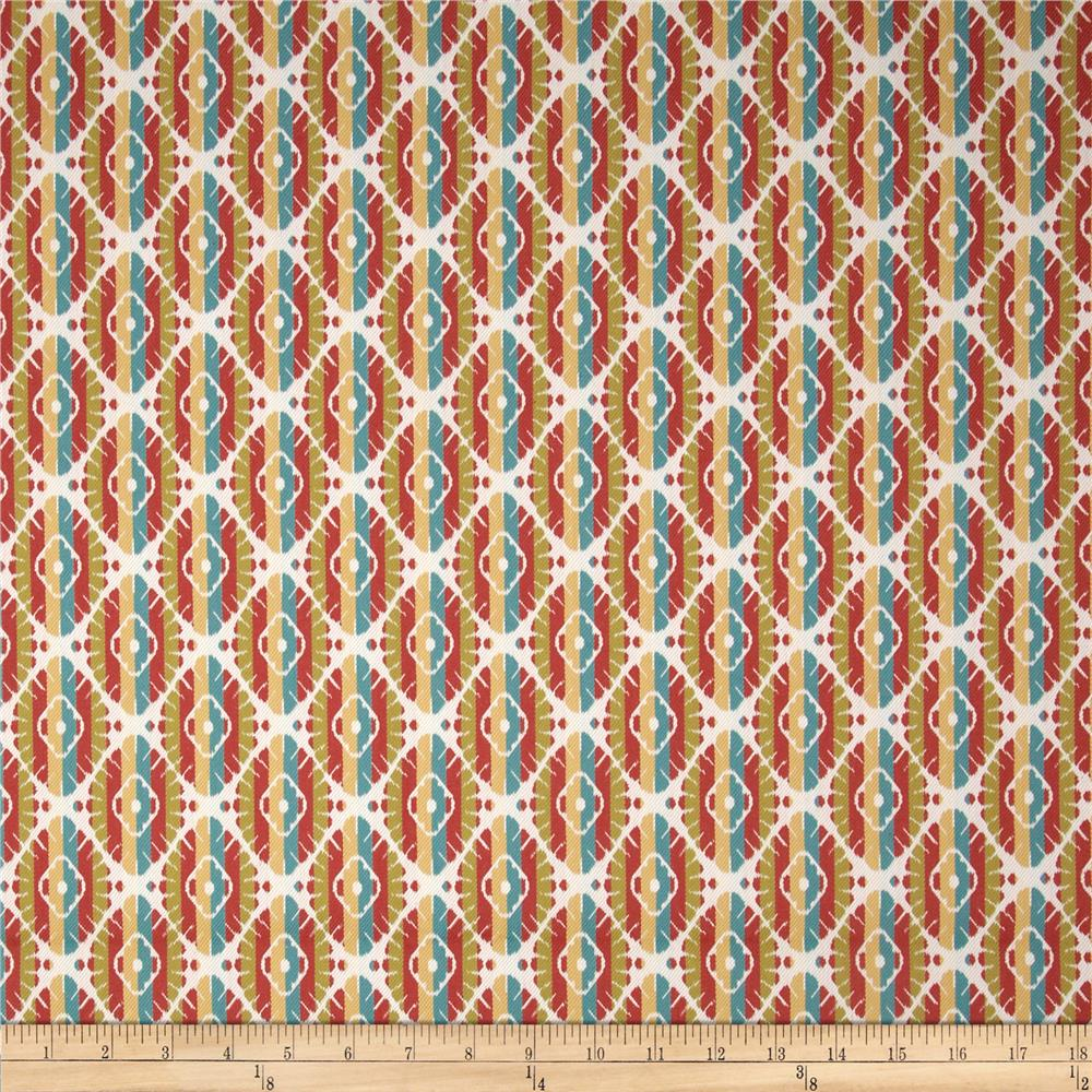 Robert Allen @ Home Crypton Twill Jacquard Motif Coral
