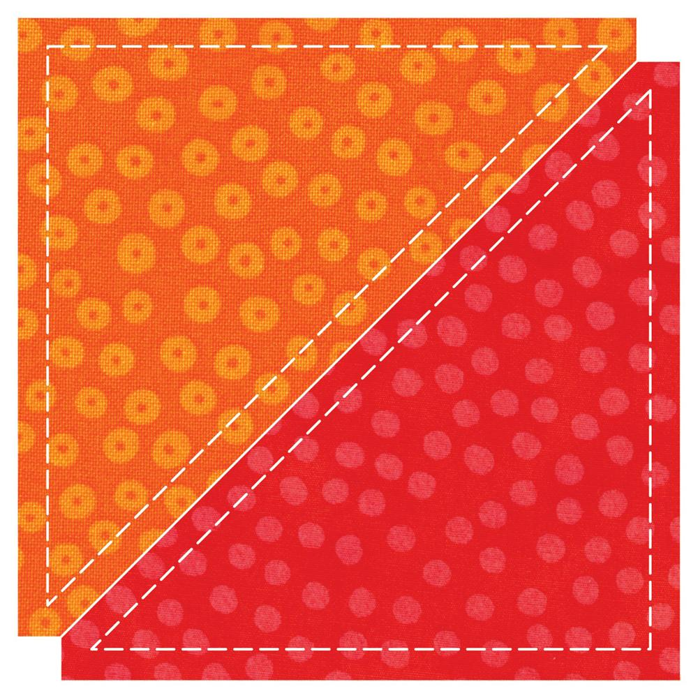 AccuQuilt Go! Die Half Square 4 1/2'' Finished Triangle
