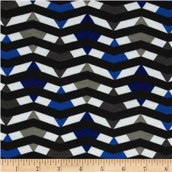 Fashionista Jersey Knit Geo Chevron Black/Blue
