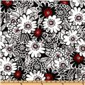 Michael Miller Zesty Zinnia Black