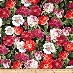 Garden View Packed Floral Black