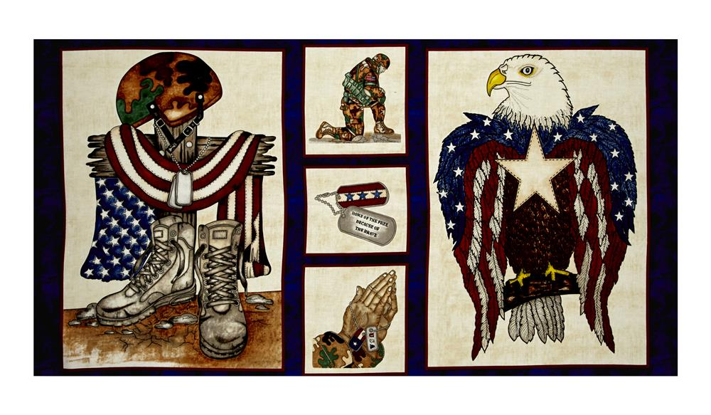 """American Honor 23"""" Soldier Panel Blue"""