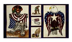 "American Honor 23"" Soldier Panel Blue"