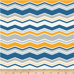 Riley Blake Little Ark Chevron Blue