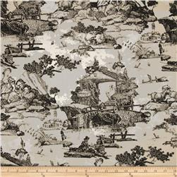 Premier Prints Birmingham Toile Macon Black Fabric