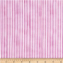 Loralie Designs Vintage Holiday Lazy Stripe Cerise