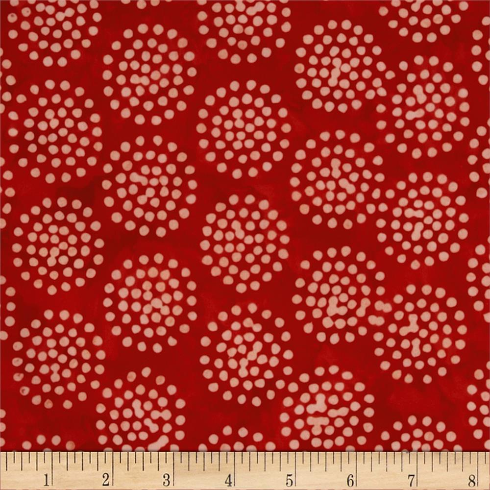 Moda Bobbins & Bits Batiks Pin Dots Cherry Red