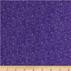 Petite Dots Flannel Purple