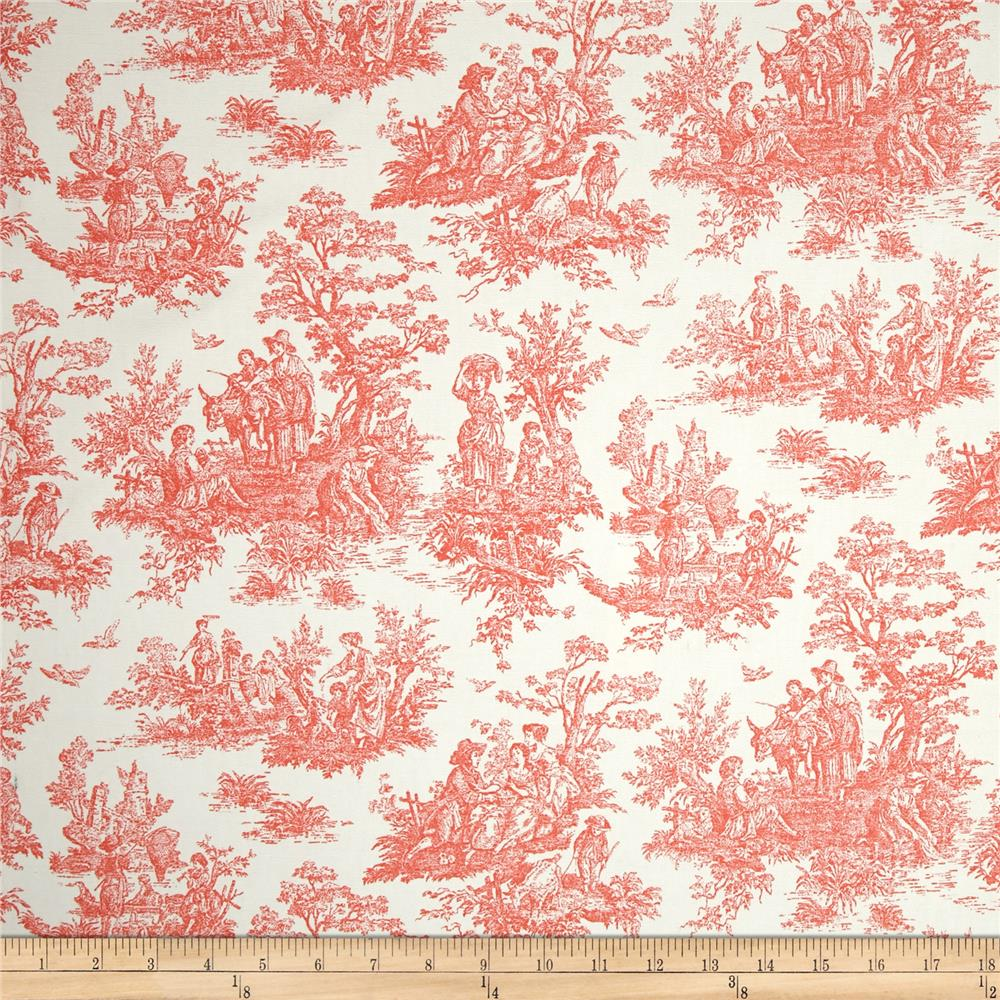 Premier Prints Jamestown Toile Salmon