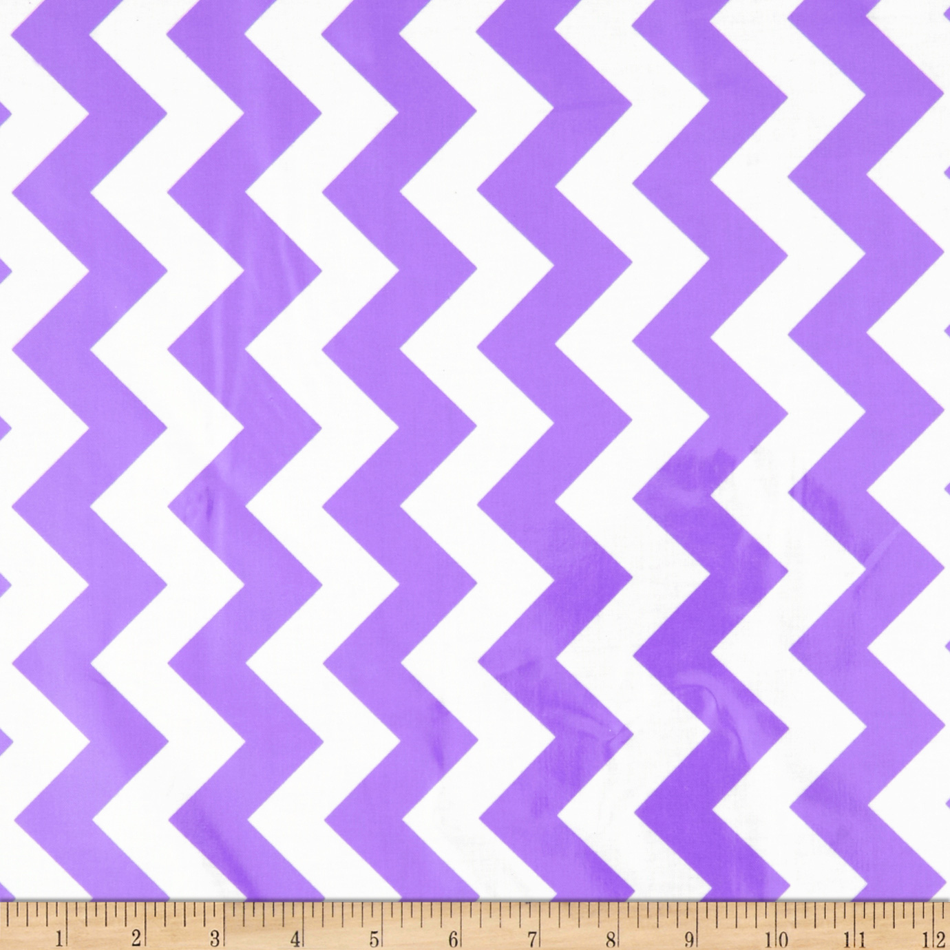 Riley Blake Laminated Cotton Medium Chevron Lavender