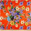Oil Cloth Hibiscus Orange