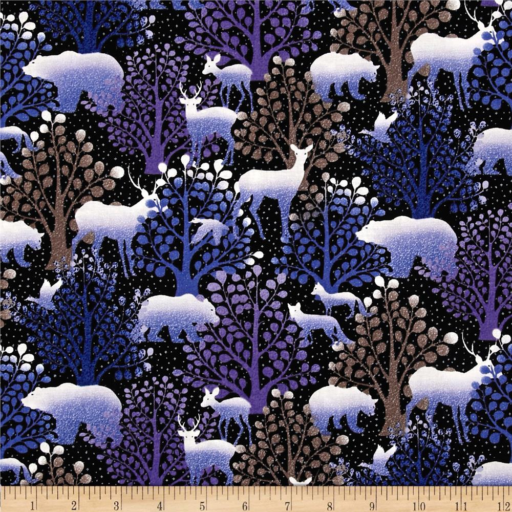 Silent Harmony Forest Animals Purple