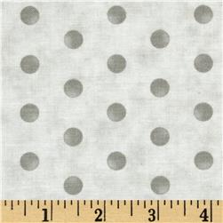 Moda Whitewashed Cottage Faded Dots Pebble