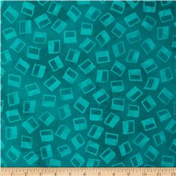 Xanadu Abstract Fans Teal