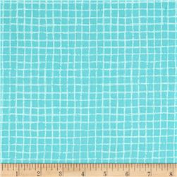 Michael Miller Tweet Me Pretty Grid Aqua