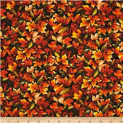 Autumn Romance Packed Leaves Orange